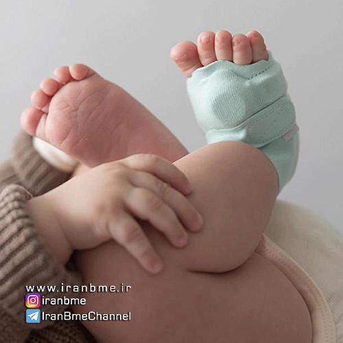بررسی علائم حیاتی نوزاد با جوراب هوشمند